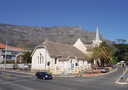 Tafelberg im Hintergrund